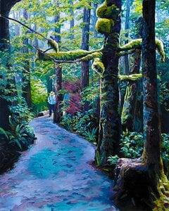WildPacificTrail_Moss_Tree by  Carole Finn (OSA SFCA)