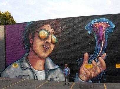 Daniel Kingsbury Mural II by  Ian George