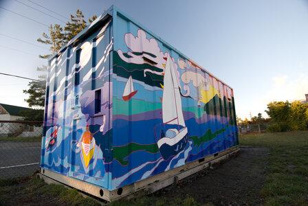 Oaklands Community Currents Mural by  Caroline Stengl