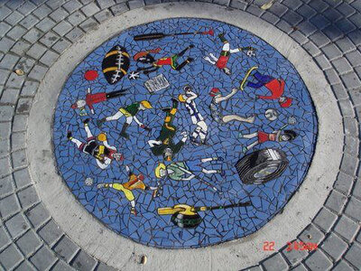 Pembroke Plaza Public Art Mosaic by  Sandra Millott
