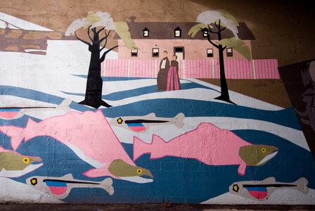 Burnside Heritage Mural by  Frank Lewis