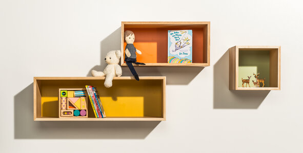 1-2-3 Floating Shelves by  Happy Deer Design