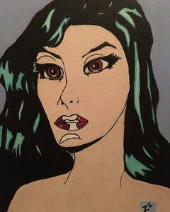 Siren, pop art style by  Zoe Sandell