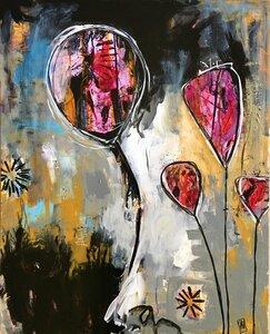 Magenta Floats by  Gabriela Hirt