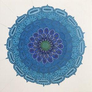 Mystic Cerulean Dahlia by  Kris Andersen