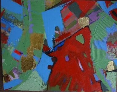 Abstract in Red by  sheila watson