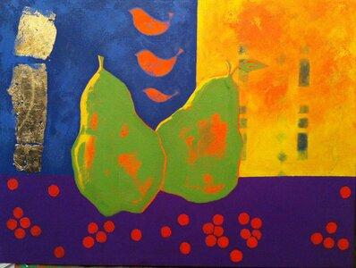3 Birds 2 pears by  sheila watson