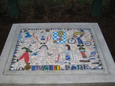 Oswald Park Mosaic by  Sandra Millott