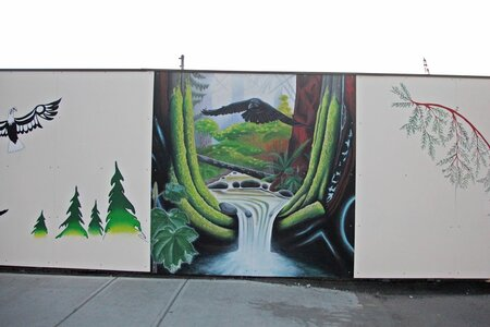 Rock Bay Mural Project by  Butch Dick (designer), Darlene Gait  (designer)
