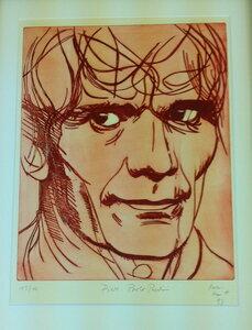 Portrait Pier Paolo Pasolino by  Hermann Valentin Schmitt