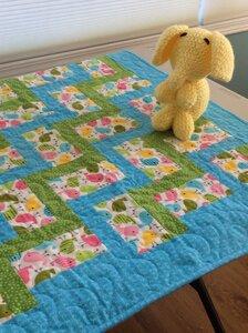 Baby Blanket - Blue by  Della Cronkrite