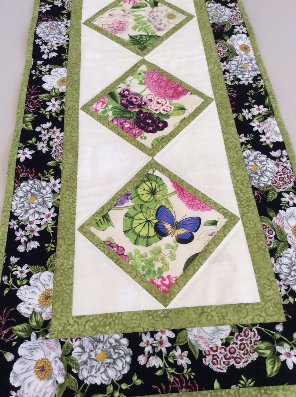 Table Runner - Summer Garden by  Della Cronkrite
