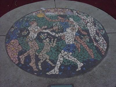 Franklin Green Park Mosaic by  Sandra Millott