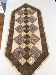 Table Runner - Double Four Patch by  Della Cronkrite