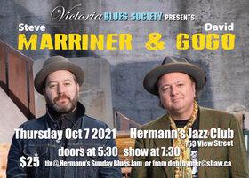 The Victoria Blues Society Presents Steve Marriner & David Gogo @ Hermann