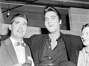 Photo- DJ Norm Pringle and his wife Elsa with Elvis Presley  -   CKDA