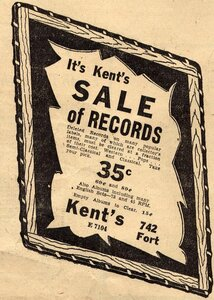 Photo- 1952  -   Kent\'s  - Photo Credit:  The Victoria Times Colonist