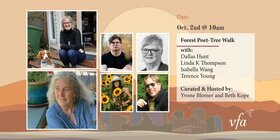 Forest Poet-Tree Walk: Dallas Hunt, Linda K. Thompson, Isabella Wang, Terence Young @ Online Oct 2 2021 - Sep 18th @ Online