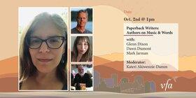 Paperback Writers: Authors on Music & Words: Dawn Dumont, Mark Jarman,  Glenn Dixon @ Online Oct 2 2021 - Sep 18th @ Online