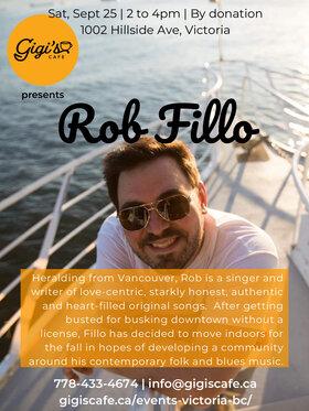 Contemporary blues & folk singer-songwriter: Rob Fillo @ Gigi