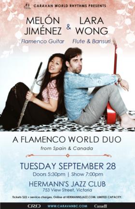 Flamenco Duo: Melón Jiménez & Lara Wong @ Hermann's Jazz Club Sep 28 2021 - Oct 16th @ Hermann's Jazz Club
