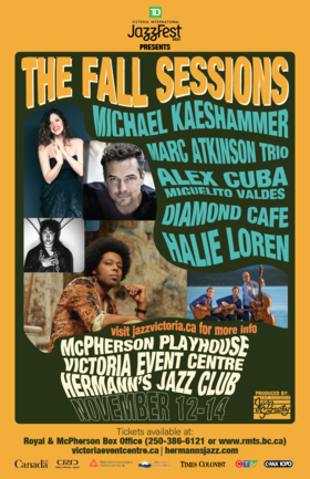 TD JazzFest The Fall Sessions: Diamond Cafe @ Victoria Event Centre Nov 13 2021 - Oct 22nd @ Victoria Event Centre