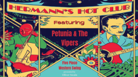 Petunia & The Vipers at Hermann's Hot Club: Petunia and the Vipers @ Hermann's Jazz Club Oct 28 2021 - Oct 16th @ Hermann's Jazz Club