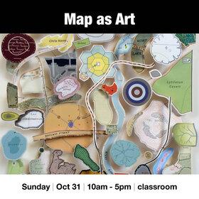 Map as Art @ Vancouver Island School of Art Oct 31 2021 - Oct 16th @ Vancouver Island School of Art