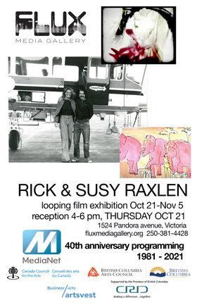 Rick Raxlen, Susy Raxlen @ FLUX MEDIA GALLERY Oct 21 2021 - Oct 16th @ FLUX MEDIA GALLERY
