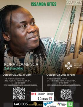 Zal Sissokho, Kora Flamenca @ Victoria Event Centre Oct 23 2021 - Oct 19th @ Victoria Event Centre