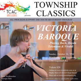 Township Classics presents Victoria Baroque: Christi Meyers (baroque violin), Soile Stratkauskas (baroque flute, Amy Laing (baroque cello) @ Wardroom - CFB Esquimalt Oct 24 2021 - Oct 16th @ Wardroom - CFB Esquimalt