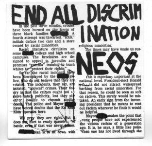 Photo- Neos Debut EP \'81-82  -   The Neos