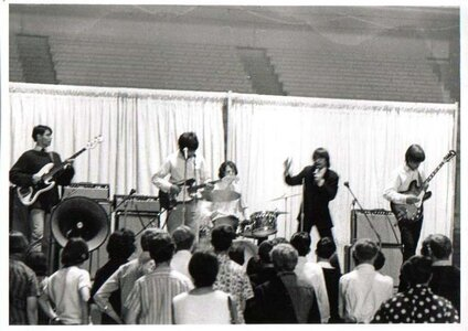 Photo- Centennial Battle of The Bands, Memorial Arena June 17,1967  -   Blues X Five  - Photo Credit:  Dave Shelton Photography