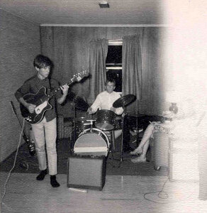 Photo- Blues X Five Rehearsal 1965b  -   Blues X Five