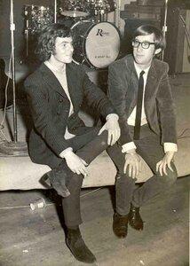 Photo- Cyril McColgan and Dave MacPherson at Club Tango Sept 1966  -   Blues X Five