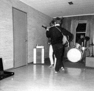 Photo- Blues X Five Rehearsal 1965a  -   Blues X Five