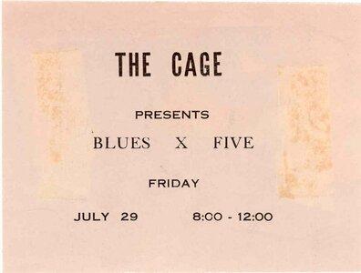 Photo- Bx5cage  -   Blues X Five