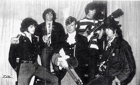 Photo- Thursday July 20, 1967 Memorial Arena backstage just before stepping on stage to open for \