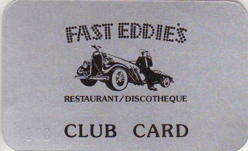 Photo- Fast Eddies Club Card  -   Red Lion Motor Inn