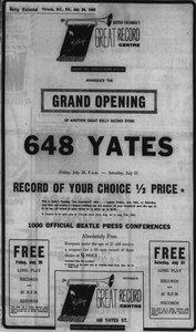 Photo- 1965  -   Kellys Record Centre