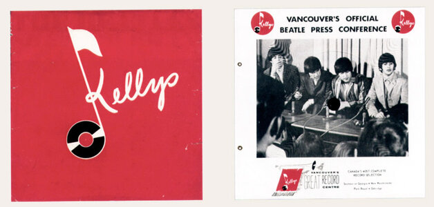 Photo- Beatles press conference ad sponsored by Kellys in August of 1964.  -   Kellys Record Centre