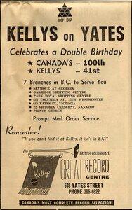 Photo- Newspaper ad June 29, 1967  -   Kellys Record Centre