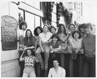 Photo- This was Sam\'s Deli staff in the summer of 1980 just before the tourist rush. Credit Soren Henrich  -   Sam\'s Deli aka Sam\'s Coffee House