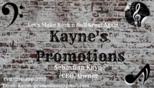 Profile Image: Kayne's Promotions