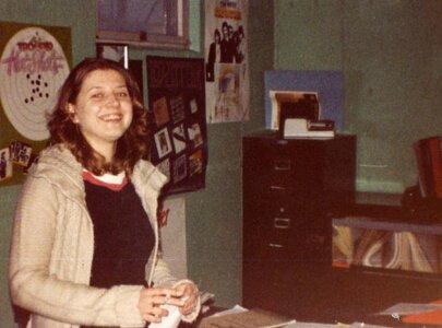 Photo- Vancouver Island Promotions Calgary office receptionist Jenine 1980  -   Vancouver Island Promotions