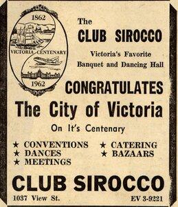 Photo- Club Sir OCCO Ad 23 May 1962  -   Club SirOCCO