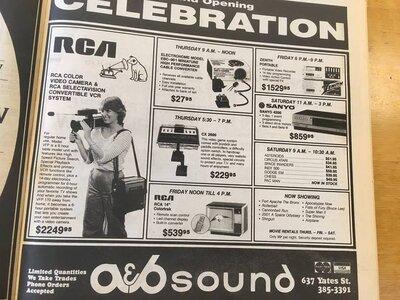 Photo- 1982  -   A & B Sound