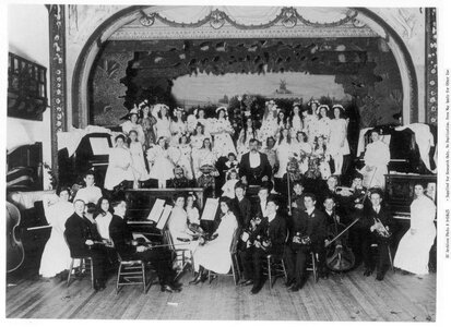 Photo- Professor Wickens and his Childrens Orchestra October 1905. BC Archives A-04625  -   A.O.U.W. Hall