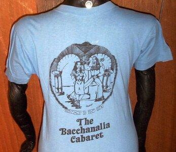 Photo- Bacchanaliatshirtbk  -   Bacchanalia Cabaret