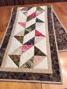 Table Runner Batik Ribbon by  Della Cronkrite